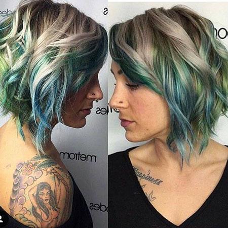 Blue-Blonde Balyage Hair