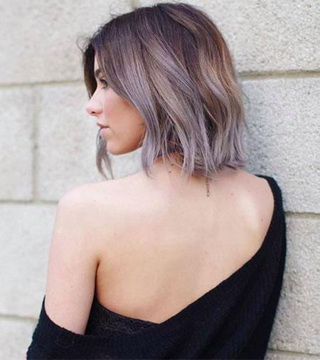 Short Hair with Bangs - 17