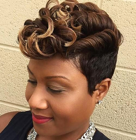 Short Curly Hairstyles Black Women - 18-
