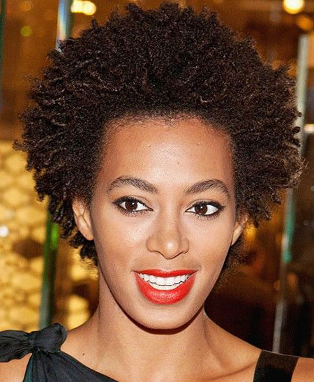 Solange's Natural Hair