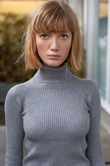 Blunt Dark Blonde Bob Hair