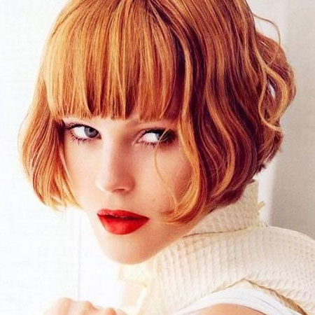 Red Short Bob Hair