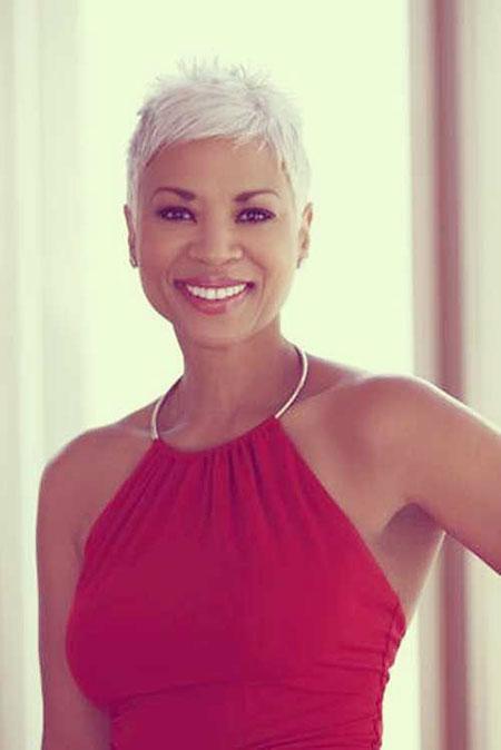 Short Hair for Black Women with White Hair