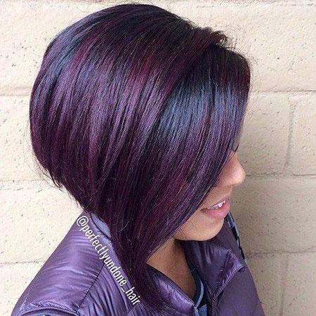 Dark Violet on Black Hair
