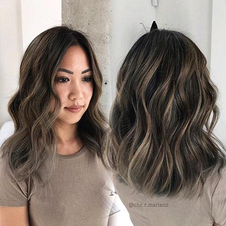 Brunette Long Bob Hair