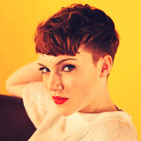 Red Undercut Pixie Hair