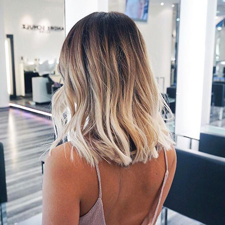 Soft Wavy Long Bob Hair