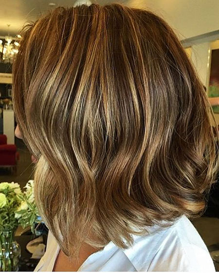 Caramel Brunette Balayage Short Hair