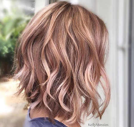 Rose Gold Brown Hair