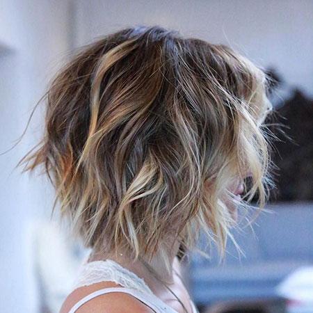Balayage on Wavy Short Hair
