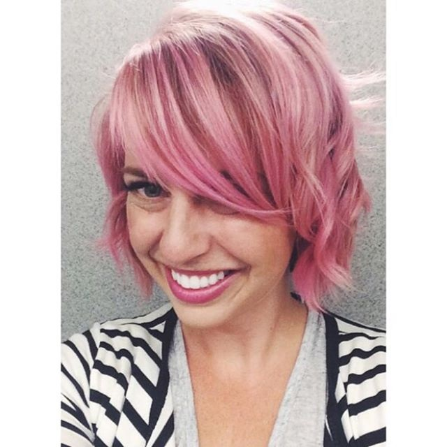 Short Cute Pink Hair
