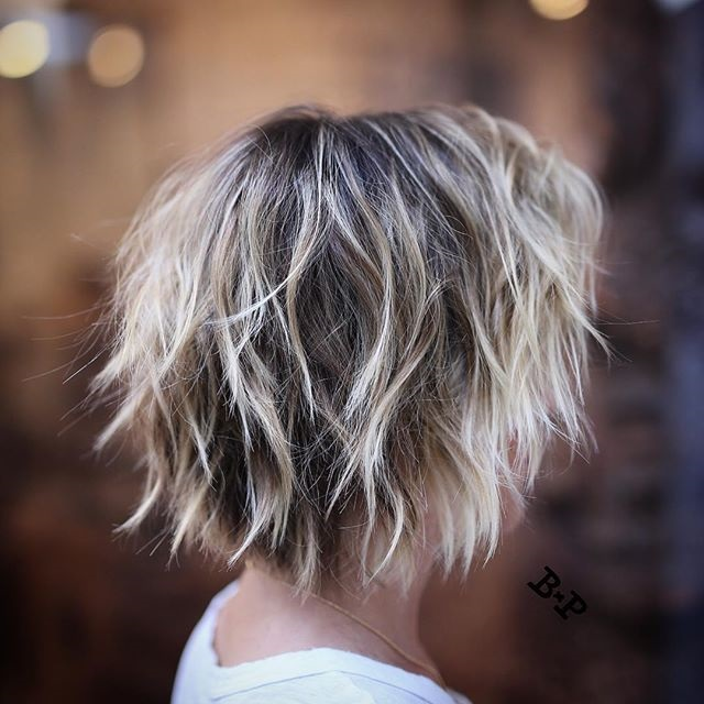Layered Messy Short Hairstyles