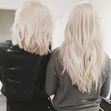Short Bleach Blonde Haircuts
