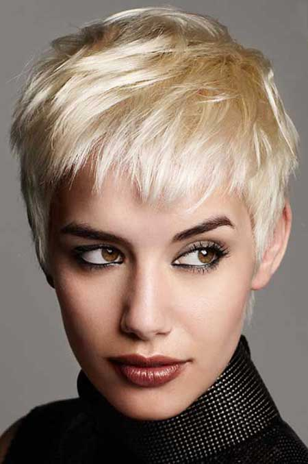 Short Bleach Blonde Hairstyles