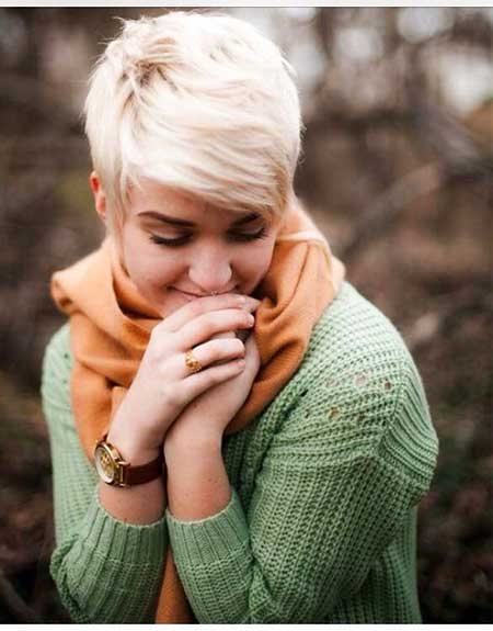 Short Bleach Blonde Hairstyle