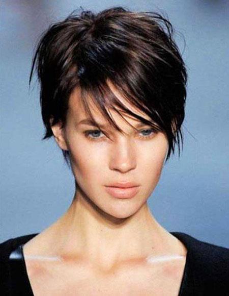 Short Hair with Bangs - 10-