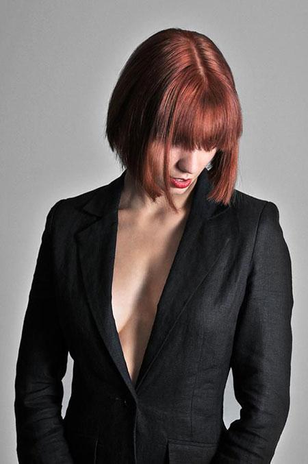 Short Hair with Bangs - 12-