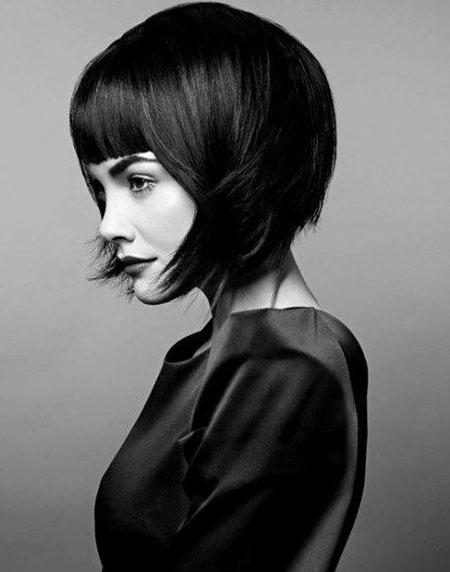 Short Hair with Bangs - 19-