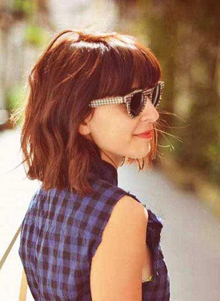Short Hair with Bangs - 21-