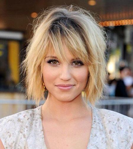 Short Hair with Bangs - 22-