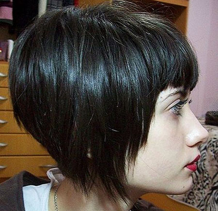 Short Hair with Bangs - 25-