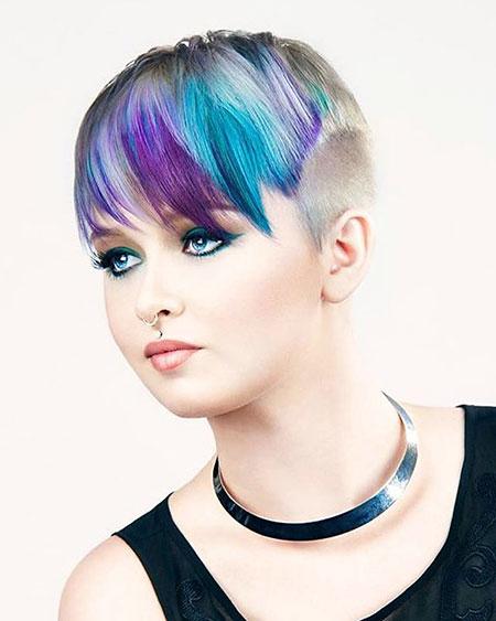 Short Hair with Bangs - 28-