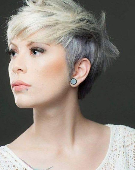 Short Hair with Bangs - 32-
