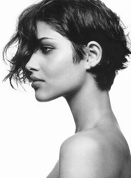 Short Hair with Bangs - 8-