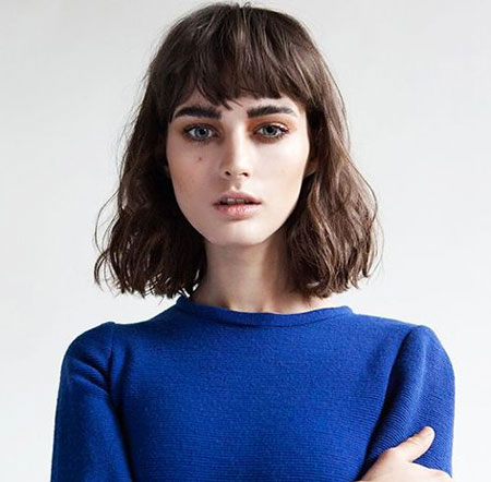 Short Hair with Bangs - 9-
