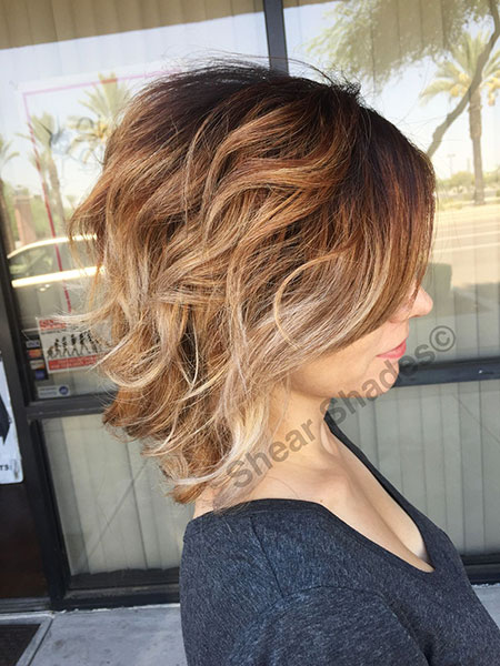 Brown with Blonde Balayage Hair