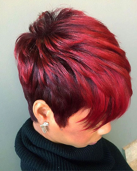 Upscale Red Short Hair