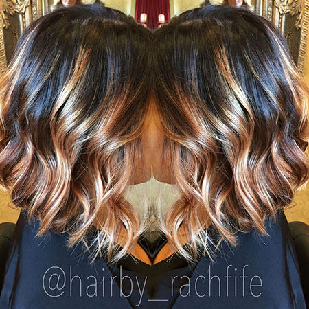 Dark Stretched Root With Blonde Balayage Hair