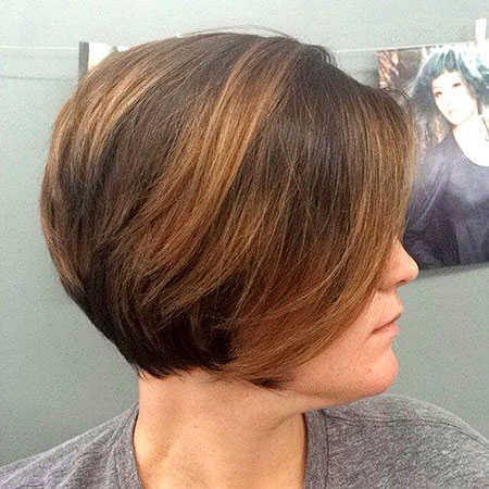 Casual Balyage Colored Bob Hair