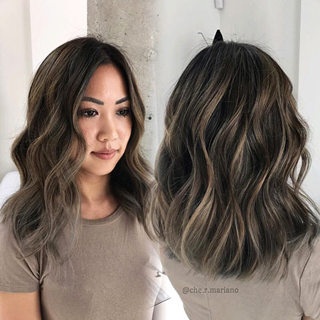 Brunette Long Bob Hair