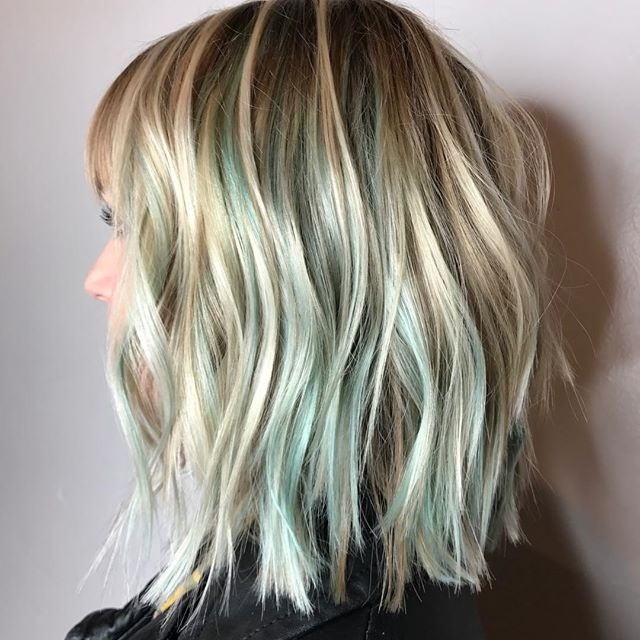 Short Green and Blonde