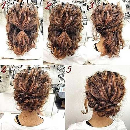 Short  Easy Updos For Medium Hair