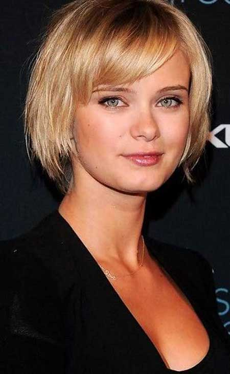 Short Haircuts for Round Faces - 16