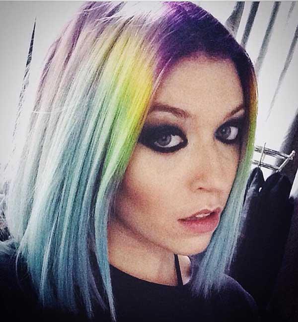 Short Multicolored Hair
