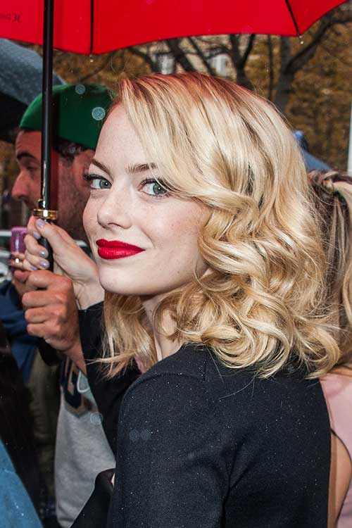 Short Curly Blonde Hair - 27