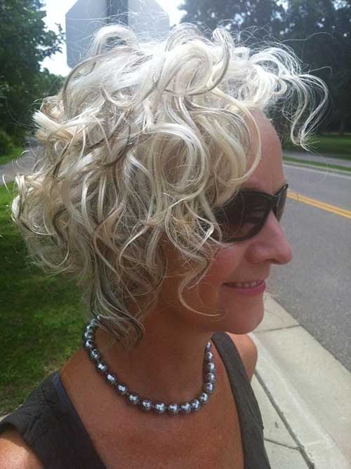 Short Curly Blonde Hair - 7