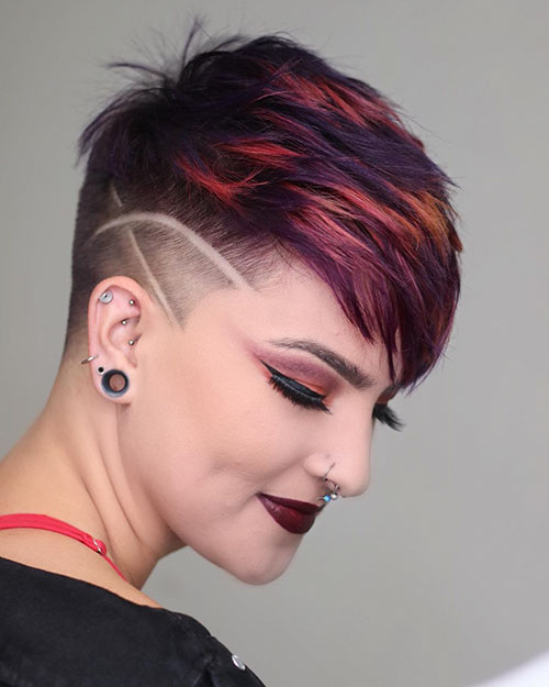 Short Hair With Shaved