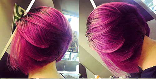 Short Pink Hairstyles