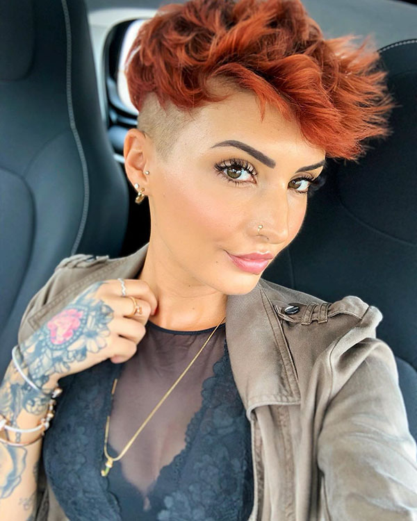 Red Pixie Hairstyles