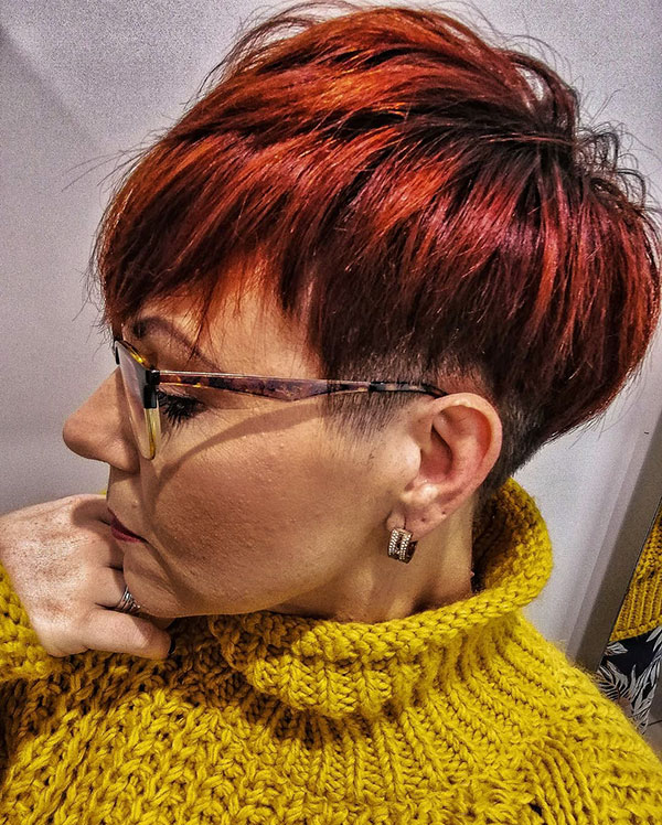 Red Hair For Pixie Hairstyle
