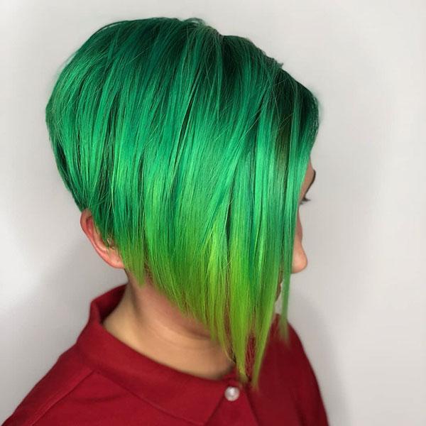 Green Short Hairstyles