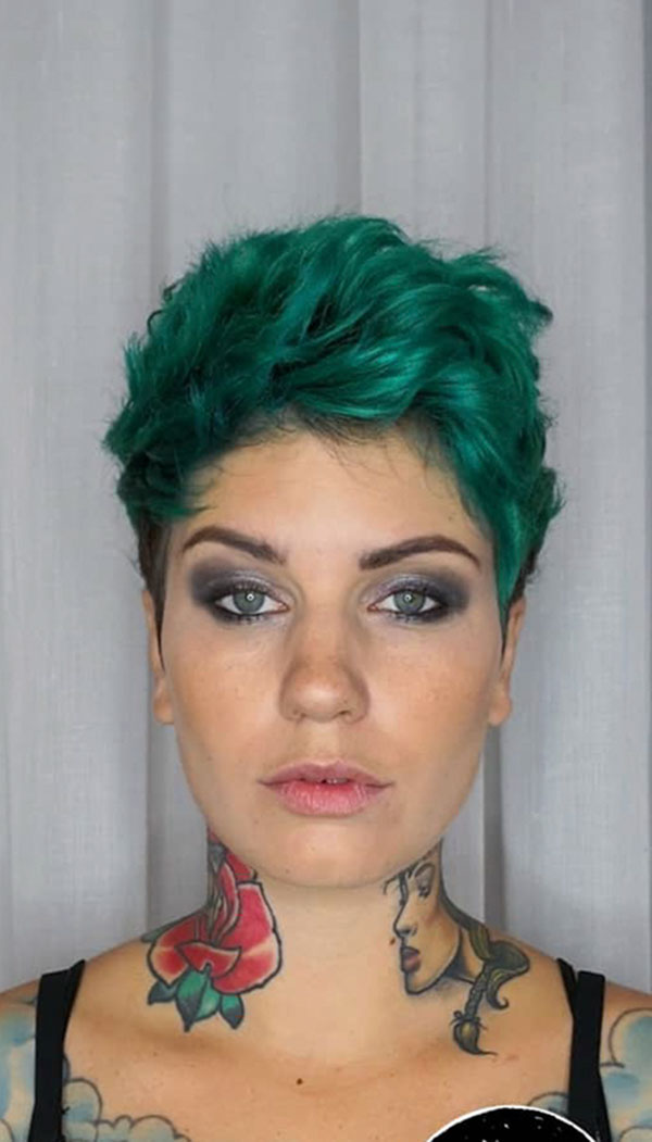 Green Hair For Short Hair