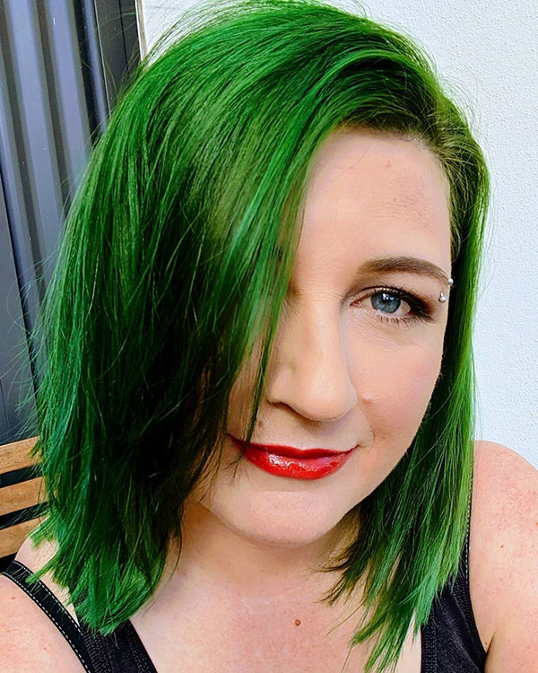 Short Green Hair Color Ideas