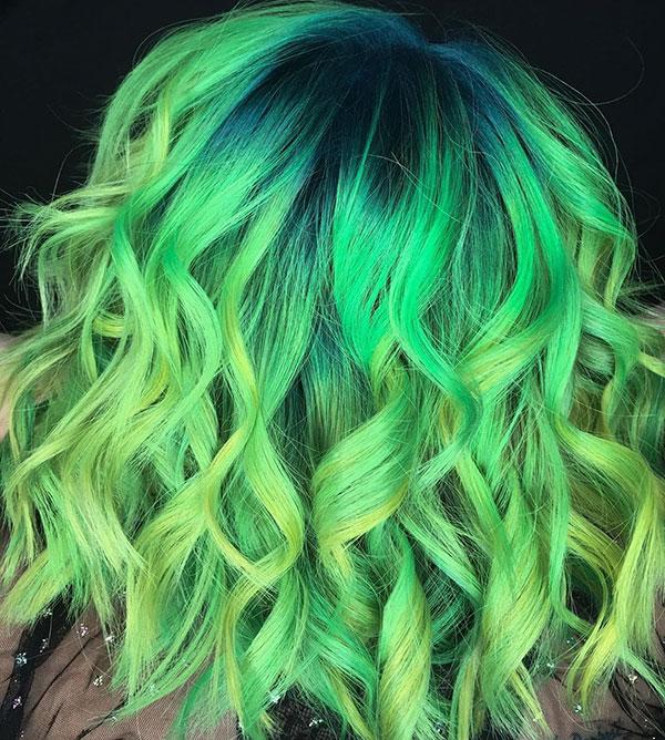 Short Green Hairstyles