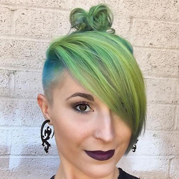 Short Hair Green