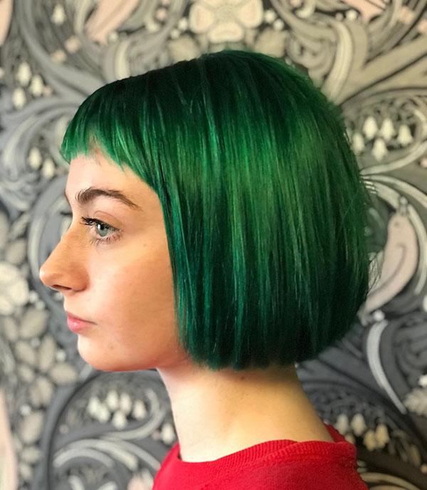 Short Hair For Green Hair